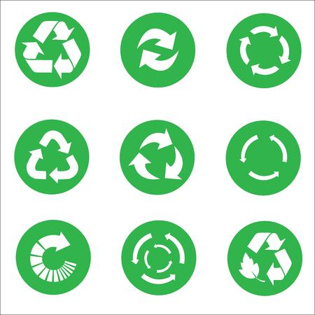 folio: Arrow Recycle icon set vector