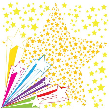 colorful star on white background vector 矢量图像