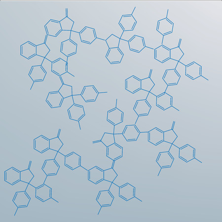 deoxyribose: abstract molecule, cell illustration background