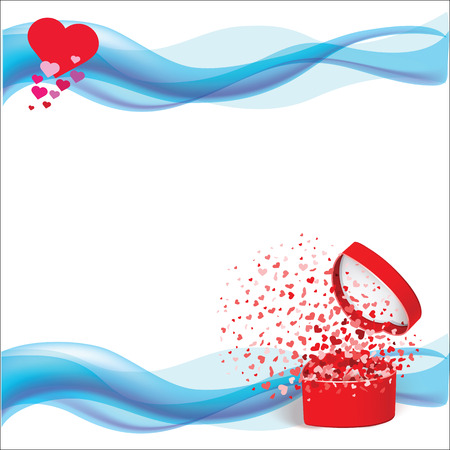 Vector heart white background for Valentine's Day