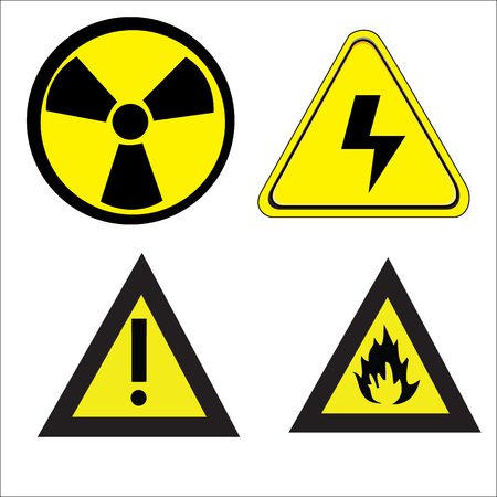 dampness: vector danger icons set