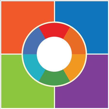 Concept of colorful circular Vector illustration background 矢量图像