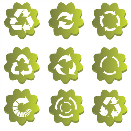 Arrow Recycle icon set vector