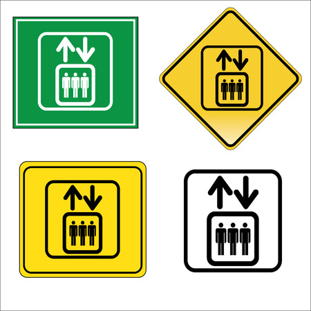 Elevator - isolated vector sign icon