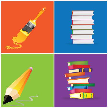 colorful school background 矢量图像