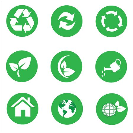 ecology  Recycle icon set vector