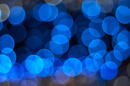Deliverate out-of-focus blue lights background