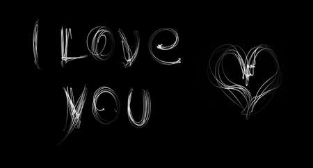 I love you, light paint