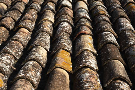 Old roof tiles background
