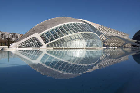 VALENCIA, SPAIN - December 30: Hemisferic in The City of Arts and Sciences of Valencia on December 30, 2011 in Valencia, Spain.The City of Arts and Sciences is an architectural, cultural and entertainment in the city of Valencia.