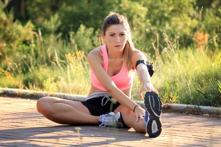 Woman doing sport in nature