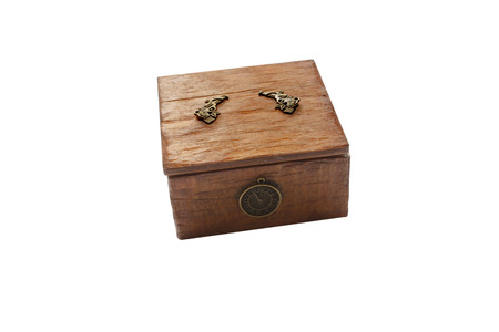 owning: wooden box for jewelry in the blanching technique Stock Photo