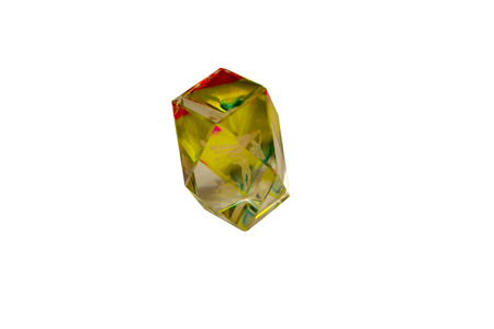 chromatic: multi-colored crystal with the zodiac sign Aquarius