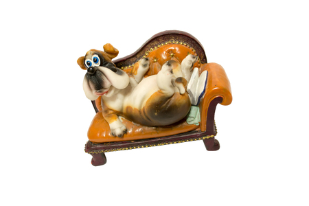 playthings: Childrens toy in the form of ceramic dog