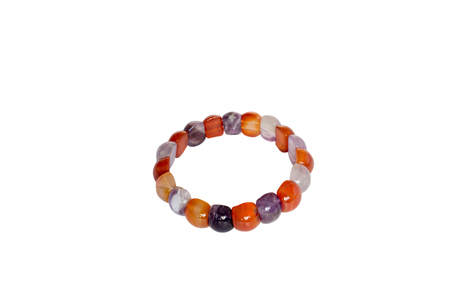 carnelian: Bracelet carnelian amethyst. Isolate on white background