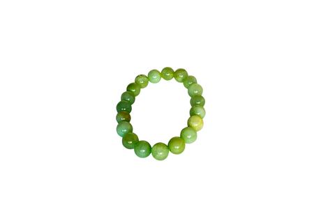 armlet: Bracelet made of onyx. Isolate on white background Stock Photo