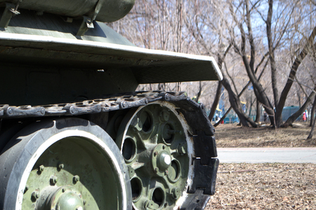 demolishing: Russian tanks during the Second World War