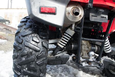 All-terrain vehicle closeup.