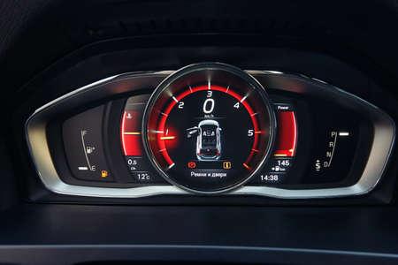 Close up of stylish dashboard of modern car
