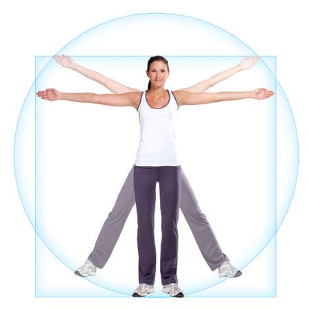 Vitruvian woman Standard-Bild