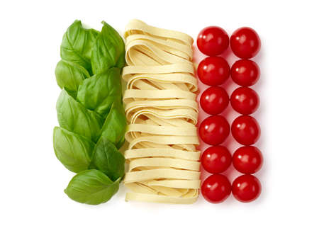 flag background: Tricolore, italian food