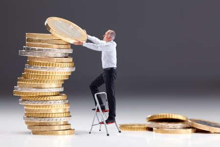 escaleras: Inversión del dinero III Foto de archivo