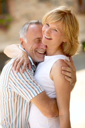 older men: Couple with age difference