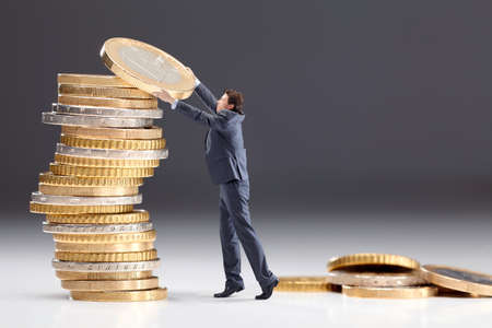 pay raise: Investment of money Stock Photo