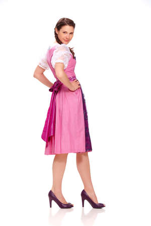 dirndl dress: Young woman with dirndl dress