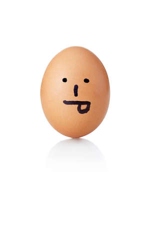 countenance: Egg with painted smiley toungue Stock Photo