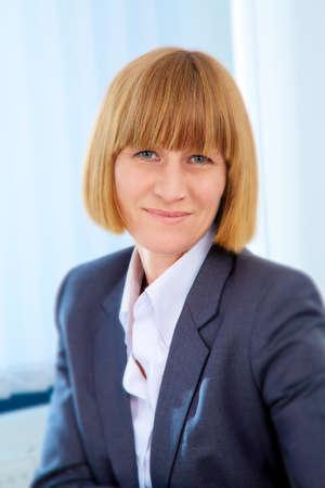 pantsuit: Portrait of businesswoman