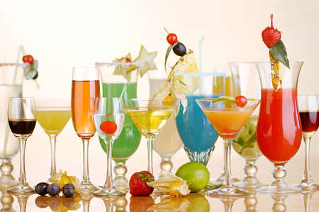 Various kind of cocktails