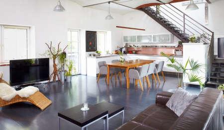 Modern appartement met een mooie decoratie