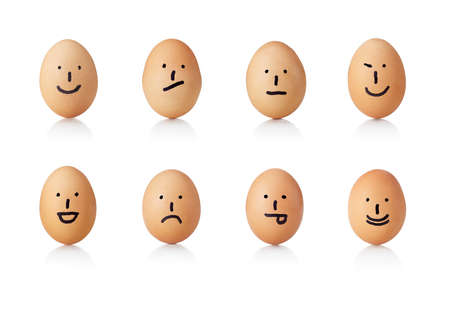 hint: Series of emoticons, painted on eggs