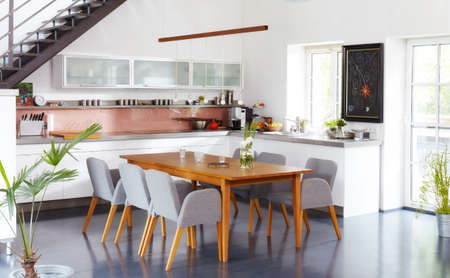 Nice flat with modern kitchen Banque d'images