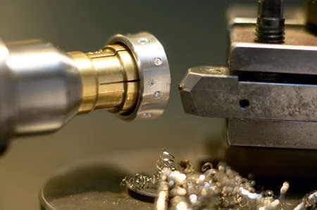 Close up of jewelery production