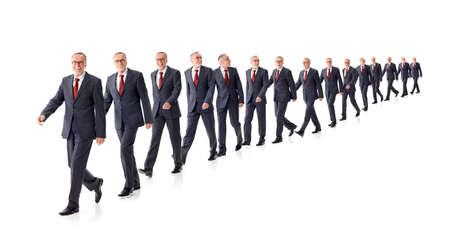 long way: The Long Way to success of a business man Stock Photo