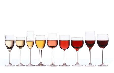 Gradiente di colore del vino Archivio Fotografico - 44753070