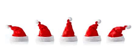 5 サンタ帽子のコレクション