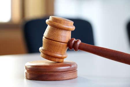 court process: Close up of judge gavel