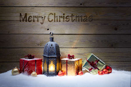 writable: Merry Chritsmas card with wooden background