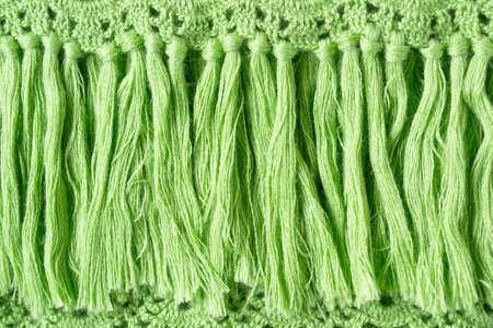 Fancy frangia verde a maglia per lo sfondo