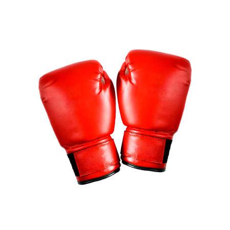 sportsmanship: Red boxing gloves on white background