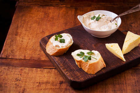 savory: Savory snack on a wooden background