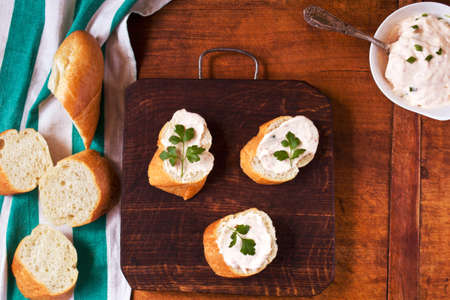 and savory: Savory baguette toasts