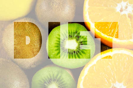 toxins: Diet concept with fruits