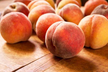 velvety: Sweet peaches close-up