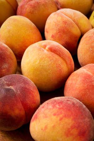 velvety: Fresh sweet peaches close-up