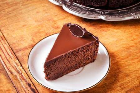savour: Perfect moist chocolate cake, ready to eat Stock Photo