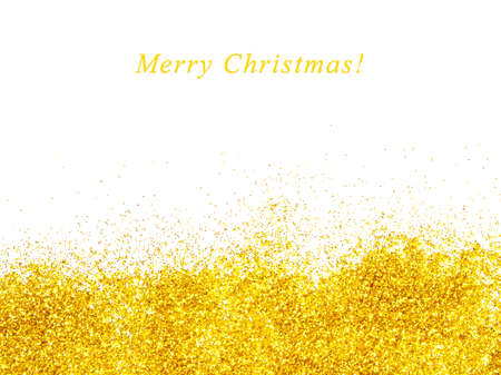 Beautiful golden glitter background for Christmas greeting card
